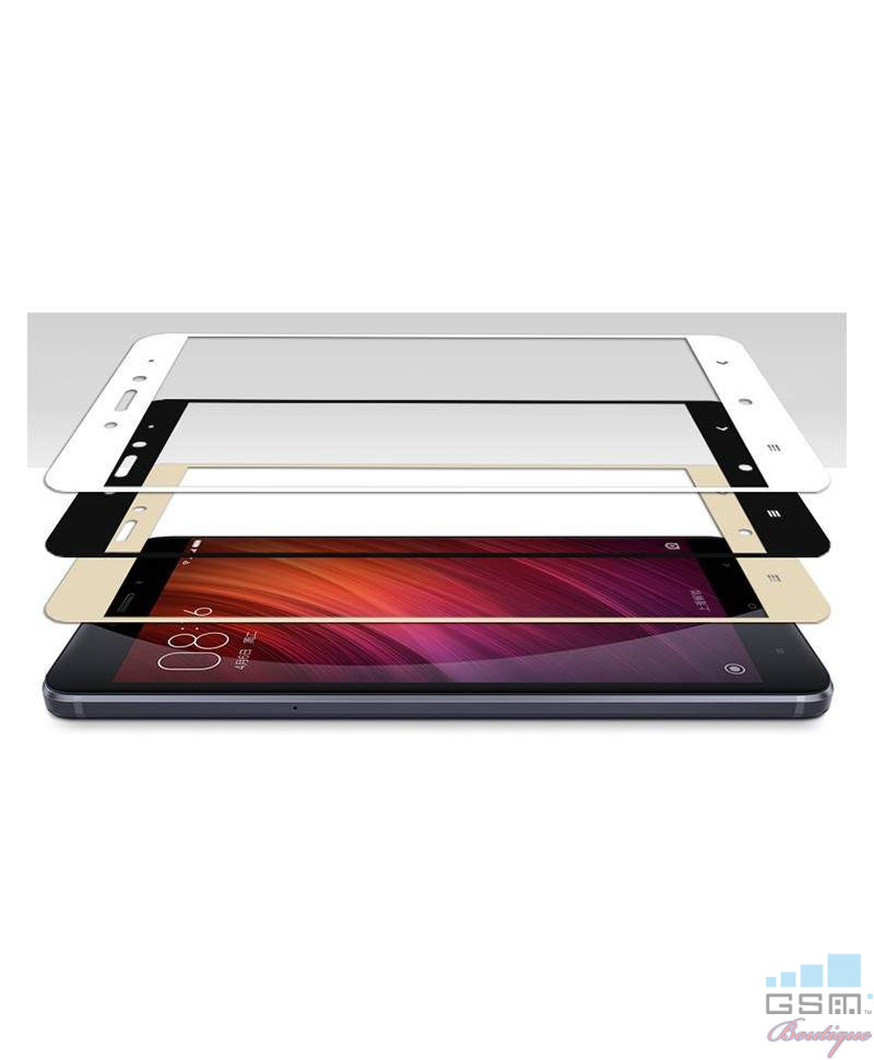 Geam Soc Protector Full LCD 4D Samsung Galaxy A3(2017), A320 Alb