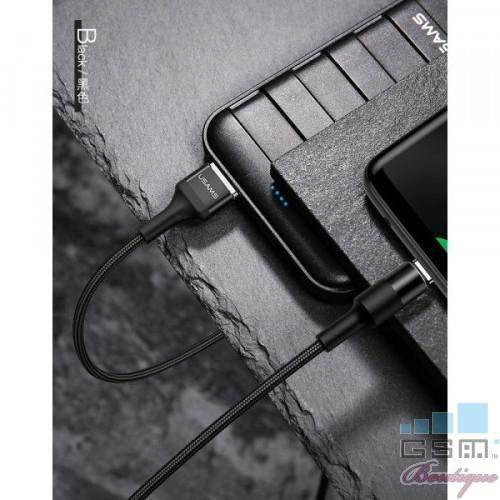Cablu de date USAMS USB tip C, Negru