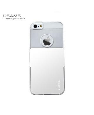 Husa Usams Smart Series Apple Iphone 5, 5S, 5SE Alba
