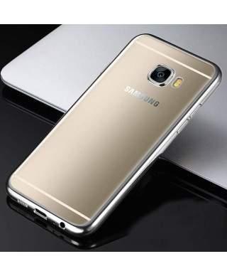 Husa Plating Samsung Galaxy A3 (2017) A320 Argintie