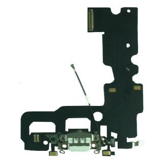 Banda Flex Cu Conector Incarcare Microfon Si Antena Semnal iPhone 7 Alba