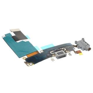 Banda Flex iPhone 6 Plus Cu Conector Incarcare Microfon si Jack Audio Gri Originala
