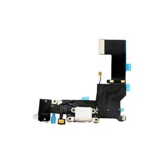 Banda Flex Mufa Incarcare iPhone 5s Cu Microfon Si Jack Audio Negru