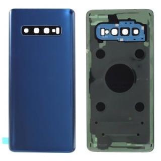 Capac Baterie Samsung S10 SM-G973 Smoke Blue Complet cu Ornamente