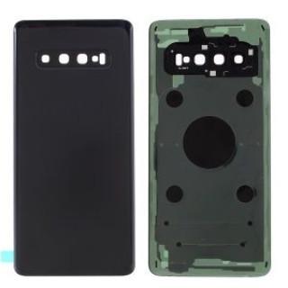 Capac Baterie Samsung S10 SM-G973 Prism Black Complet cu Ornamente