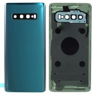 Capac Baterie Samsung S10 SM-G973 Prism Green Complet cu Ornamente