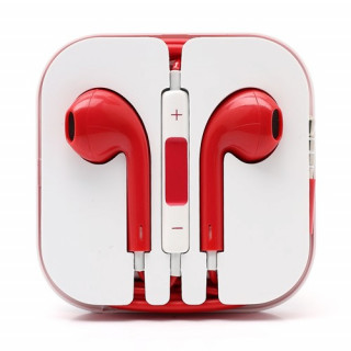 Casti Handsfree Stereo Cu Microfon Si Telecomanda iPhone iPad Samsung Huawei Universale Rosii