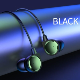 Casti USAMS EP-40 Cu Mufa Jack 3,5mm Si Microfon Negre