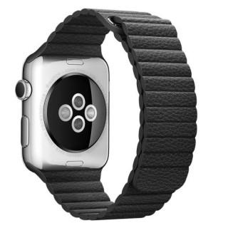 Curea Apple Watch Series /5/4 44mm / Series 3 2 1 Watch 42mm Piele Ecologica Magnetica Neagra