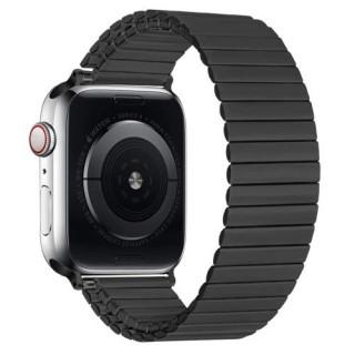 Curea Apple Watch Series 6/SE/5/4 44mm / Series 3 2 1 Watch 42mm Metalica Magnetica Neagra