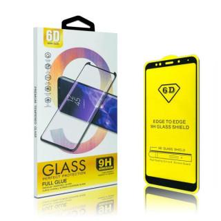 Folie protectie Sticla 6D, Full Glue pentru iPhone 6, White
