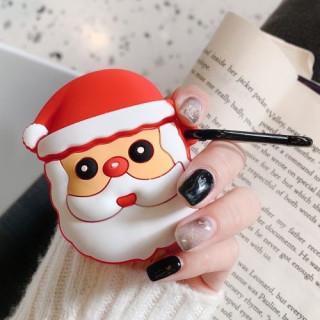 Husa Casti Apple Airpods 2016 / 2019 Santa Claus Colorata
