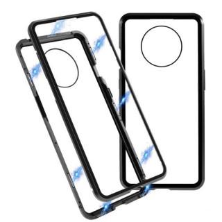 Husa OnePlus 7T Magnetica 360 De Grade Din Sticla Neagra