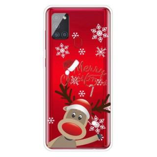 Husa Samsung Galaxy A21S TPU Snow and Elk Colorata