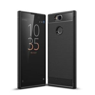Husa Sony Xperia XA2 Plus TPU Carbon Neagra