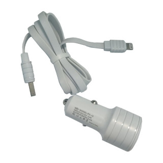 Incarcator Auto Cu Cablu Lightning iPhone 5 5s SE 6 6s 7 8 X XS 11 (White)