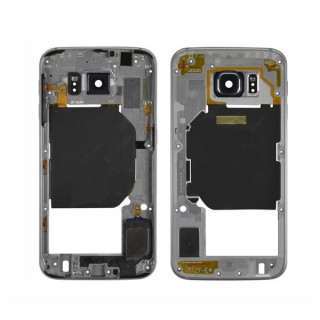Sasiu Carcasa Mijloc Samsung Galaxy S6 G920 Gold Original Complet