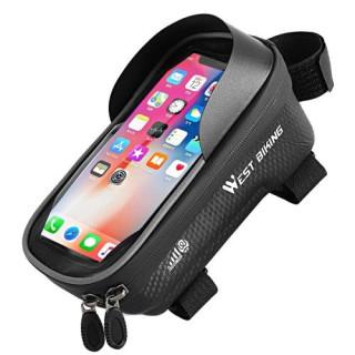 Suport Telefon Pentru Bicicleta WEST BIKING Cu Husa Impermeabila Negru