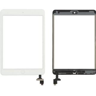 Touchscreen cu buton si Conector IC Apple iPad Mini 2 Alb