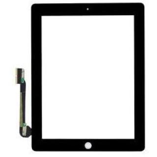 Geam Cu Touchscreen iPad 4 Wi-Fi + Cellular Negru