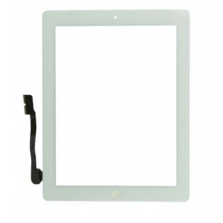 Touchscreen cu Buton Apple iPad 3 iPad 4 Alb