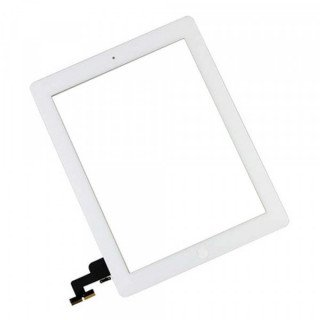 Touchscreen cu Buton Apple iPad 2 iPad 1 Alb